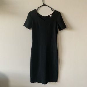 Peruvian connection black classic sweater dress